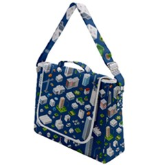 Isometric-seamless-pattern-megapolis Box Up Messenger Bag