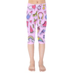 Fashion Patch Set Kids  Capri Leggings  by Vaneshart