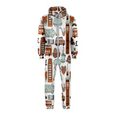 Seamless-pattern-with-london-elements-landmarks Hooded Jumpsuit (kids)