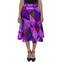 Triangular-shapes-background Perfect Length Midi Skirt