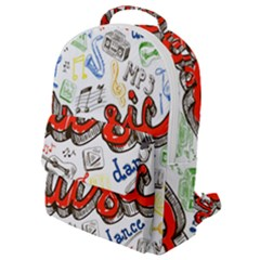 Music-color-elements Flap Pocket Backpack (small) by Vaneshart
