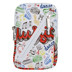 Music-color-elements Belt Pouch Bag (small)
