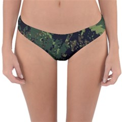 Military Background Grunge Reversible Hipster Bikini Bottoms