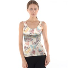 Pattern-with-hand-drawn-butterflies Tank Top
