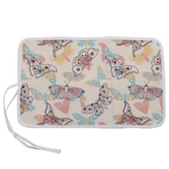 Pattern-with-hand-drawn-butterflies Pen Storage Case (s)