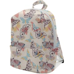 Pattern-with-hand-drawn-butterflies Zip Up Backpack