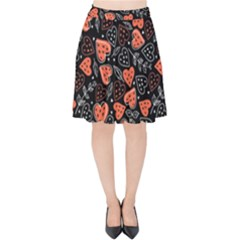 Seamless-vector-pattern-with-watermelons-hearts-mint Velvet High Waist Skirt