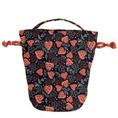 Seamless-vector-pattern-with-watermelons-hearts-mint Drawstring Bucket Bag