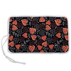 Seamless-vector-pattern-with-watermelons-hearts-mint Pen Storage Case (m)