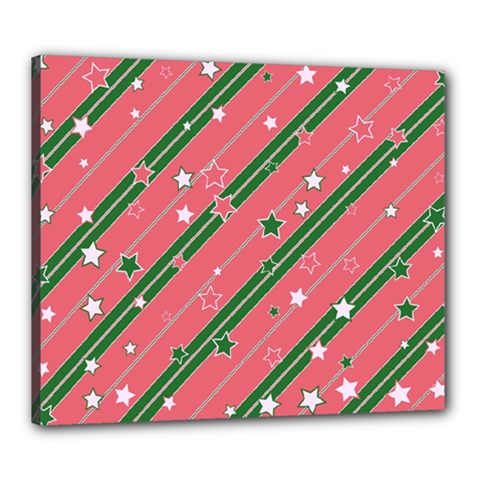 Christmas-background-star Canvas 24  X 20  (stretched)