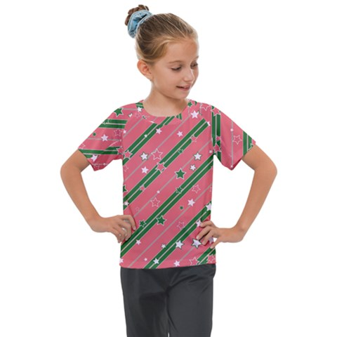 Christmas-background-star Kids  Mesh Piece Tee by Vaneshart