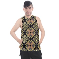 Seamless-mexican-pattern Men s Sleeveless Hoodie