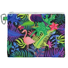 Tropical-exotic-colors-seamless-pattern Canvas Cosmetic Bag (xxl) by Vaneshart