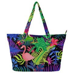 Tropical-exotic-colors-seamless-pattern Full Print Shoulder Bag by Vaneshart