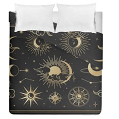 Asian-set-with-clouds-moon-sun-stars-vector-collection-oriental-chinese-japanese-korean-style Duvet Cover Double Side (queen Size)