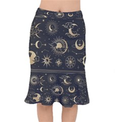 Asian-set-with-clouds-moon-sun-stars-vector-collection-oriental-chinese-japanese-korean-style Short Mermaid Skirt by Vaneshart