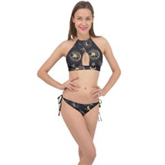 Asian-set-with-clouds-moon-sun-stars-vector-collection-oriental-chinese-japanese-korean-style Cross Front Halter Bikini Set
