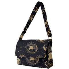 Asian-set-with-clouds-moon-sun-stars-vector-collection-oriental-chinese-japanese-korean-style Full Print Messenger Bag (s) by Vaneshart