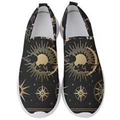 Asian-set-with-clouds-moon-sun-stars-vector-collection-oriental-chinese-japanese-korean-style Men s Slip On Sneakers by Vaneshart