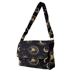 Asian-set-with-clouds-moon-sun-stars-vector-collection-oriental-chinese-japanese-korean-style Full Print Messenger Bag (m) by Vaneshart