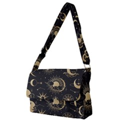 Asian-set-with-clouds-moon-sun-stars-vector-collection-oriental-chinese-japanese-korean-style Full Print Messenger Bag (l) by Vaneshart