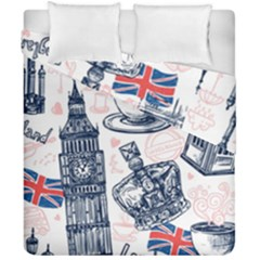London-seamless-pattern Duvet Cover Double Side (california King Size) by Vaneshart
