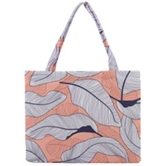 Floral-seamless-pattern-with-leaves-tropical-background Mini Tote Bag