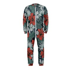 Seamless-floral-pattern-with-tropical-flowers Onepiece Jumpsuit (kids) by Vaneshart