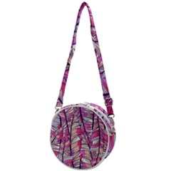 Beautiful-boho-seamless-pattern-with-pink-feathers Crossbody Circle Bag