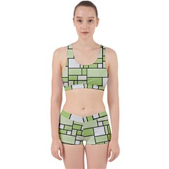 Green-geometric-digital-paper Work It Out Gym Set