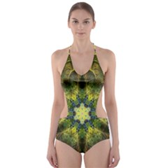 Fractal Fantasy Design Background Cut-out One Piece Swimsuit