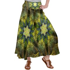 Fractal Fantasy Design Background Satin Palazzo Pants