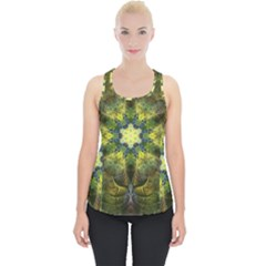Fractal Fantasy Design Background Piece Up Tank Top