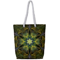 Fractal Fantasy Design Background Full Print Rope Handle Tote (small)