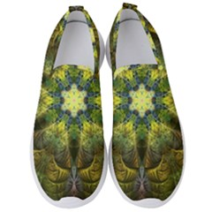 Fractal Fantasy Design Background Men s Slip On Sneakers