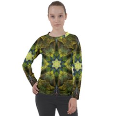 Fractal Fantasy Design Background Women s Long Sleeve Raglan Tee