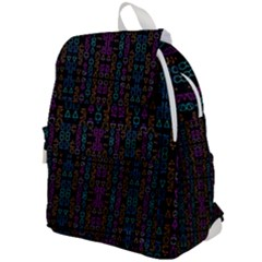 Neon Geometric Seamless Pattern Top Flap Backpack