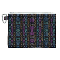 Neon Geometric Seamless Pattern Canvas Cosmetic Bag (xl)