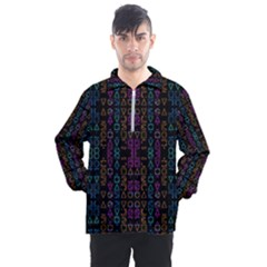 Neon Geometric Seamless Pattern Men s Half Zip Pullover