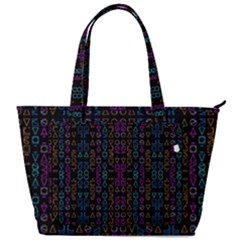 Neon Geometric Seamless Pattern Back Pocket Shoulder Bag