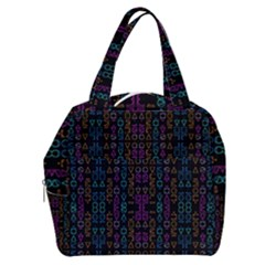 Neon Geometric Seamless Pattern Boxy Hand Bag