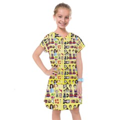 Kawaiicollagepattern3 Kids  Drop Waist Dress