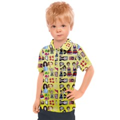 Kawaiicollagepattern3 Kids  Polo Tee