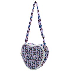 Goth Girl In Blue Dress Lilac Pattern Heart Shoulder Bag
