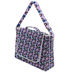 Goth Girl In Blue Dress Lilac Pattern Box Up Messenger Bag