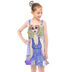 Swimmer By Pool Kids  Overall Dress