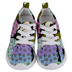 Girl With Star Striped Dress Kids  Lightweight Sports Shoes