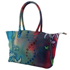 Flower Dna Canvas Shoulder Bag