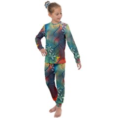 Flower Dna Kids  Long Sleeve Set  by RobLilly