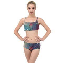 Flower Dna Layered Top Bikini Set
